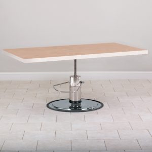 """52"""" x 28"""" x 27""""- 34"""" Natural Colored Hydraulic Work Table - CL-75-24H"""