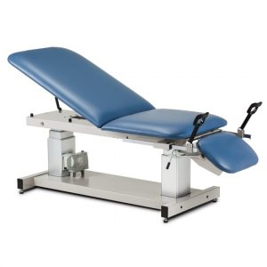 "76"" x 34"" x 21.5""-37.5"" Royal Blue Multi-Use, Ultrasound Table with Stirrups - CL-80069-X"