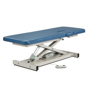 """72"""" x 27"""" x 18""""-35"""" Royal Blue Open Base, Power Imaging Table with Window Drop - CL-85100"""