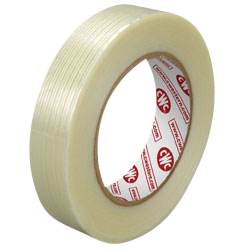 "1"" x 60 Yard 4.5 Mil Filament Reinforced Tape (36 Rolls)"
