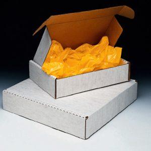 """12"""" x 12"""" x 2-3/4"""" Die-Cut Corrugated Box - White  (25 per bundle)"""