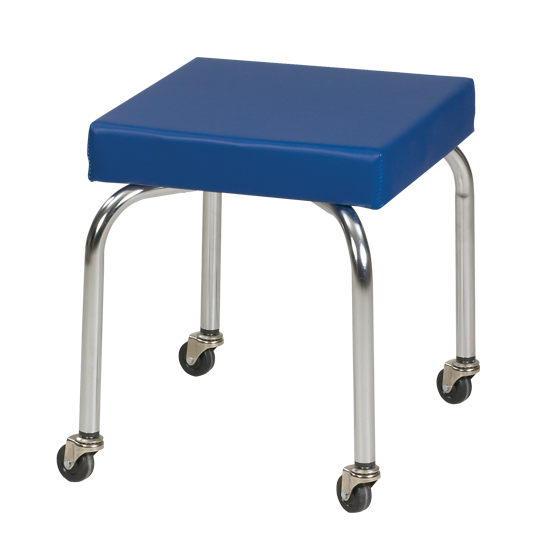 15 x 15 x 18 Royal Blue Physical Therapy Scooter Stool (Non-adjustable) - CL-2111