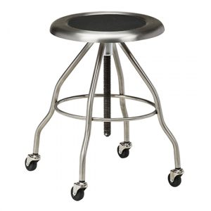 Stainless Steel Stool with Casters - CL-SS-2162
