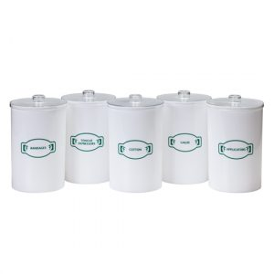 Sundry Jars - Labeled, Opaque Plastic - CL-T-60