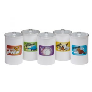 Sundry Jars - Labeled, Opaque Plastic, Animal Pals - CL-T-66