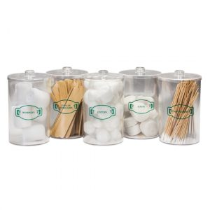 Sundry Jars - Labeled, Clear Plastic - CL-T-70