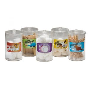 Sundry Jars - Labeled, Clear Plastic, Animal Pals - CL-T-77
