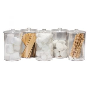 Sundry Jars - Unlabeled, Clear Plastic - CL-T-79