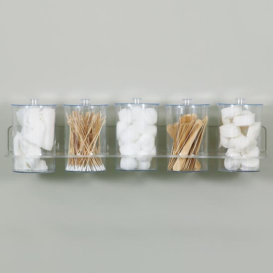 Clear Acrylic Wall Mount Jar Rack (RACK ONLY) (Jars Sold Separately) - CL-T-88