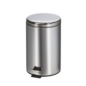 13-Quart Small Round Stainless Steel Waste Receptacle - CL-TR-13S
