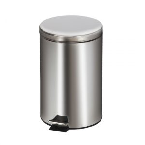 20-Quart Medium Round Stainless Steel Waste Receptacle - CL-TR-20S