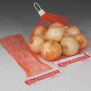 "5-1/2"" x 23"" Net Produce Bag with Header (50 per bundle)"