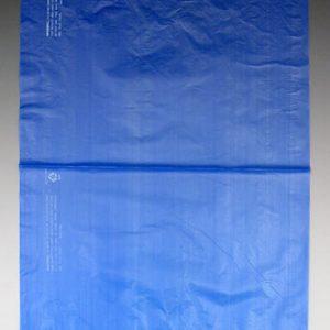 "12"" x 15"" High Density Embossed Flat Merchandise Bag without Die-Cut Handle - Blue (.65 mil) (1000 per carton)"