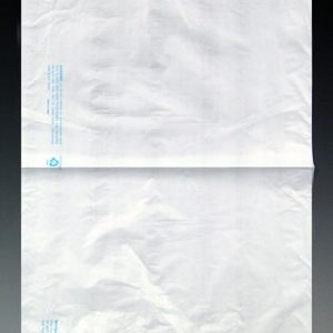 """12"""" x 15"""" High Density Embossed Flat Merchandise Bag without Die-Cut Handle - White (.65 mil) (1000 per carton)"""