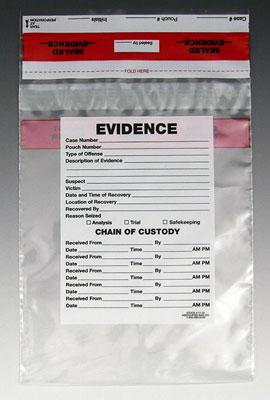 "12"" x 15-1/2"" Tamper-Evident Evidence Bag (3 mil) (500 per carton)"