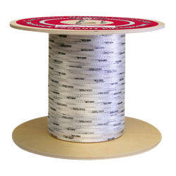 """Polyester Conduit Pulling Tape - White w/Black Markers - Woven - 3/4"""" x 1000', 2500 lbs Tensile (1 Spool)"""