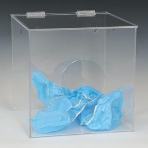 "10"" x 10"" x 10"" Clear Acrylic Dispenser"