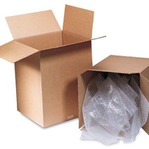 "4"" x 4"" x 24"" Single Wall Corrugated Box - Kraft  (25 per bundle)"