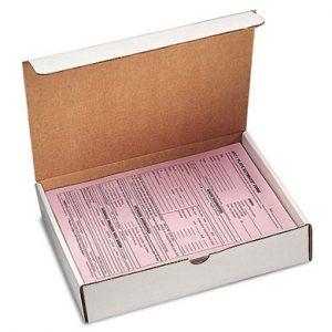 "11-1/8"" x 8-3/4"" x 2-5/16"" Corrugated Document Box - White  (50 per bundle)"