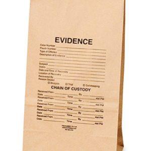 "8-1/4"" x 5-1/4"" x 18"" Kraft Paper Evidence Bag (57 lb.) (250 per carton)"