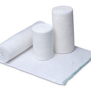 "6"" x 15' Medline Swift-Wrap® Sterile Elastic Bandages - White (20 per carton)"