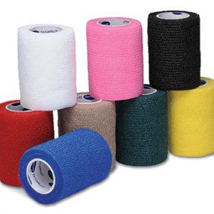 """3"""" x 15' Hartmann USA Co-Lastic® LF Elastic Bandage - Assorted Colors (24 per carton)"""