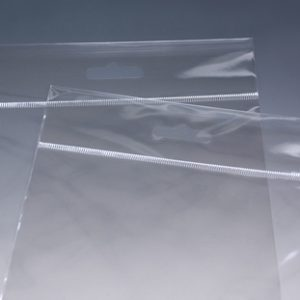 """12-1/4"""" x 12-1/4"""" High Clarity Polypropylene Bags with 1"""" Clear Header and Resealable Bottom (1.6 mil) (1000 per carton)"""