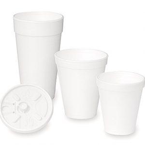 10 oz. Styrofoam Beverage Cups - White (1,000 Cups)