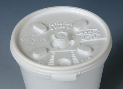 Plastic Lids for Styrofoam Beverage Cups (Fits 6 oz. Cups) (10 Boxes - 100 Lids per Box)