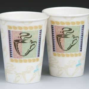 12 oz. Dixie PerfecTouch Hot Beverage Cups (2 Boxes - 50 Cups per Box)