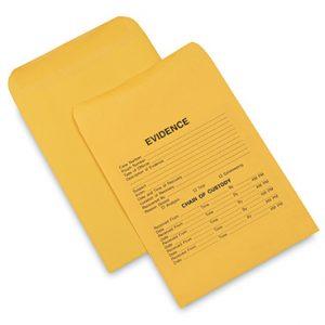 """10"""" x 13"""" Kraft Paper Evidence Envelopes (28 lb.) (100 per carton)"""