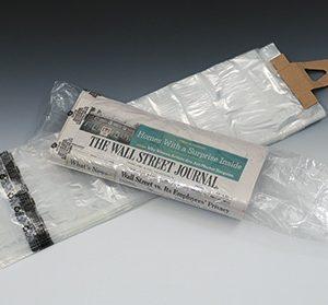"""7-1/2"""" x 21"""" Low Density Flat Newspaper Bag with Suffocation Warning Print (.65 mil) (100 Bags per Pad; 20 Pads per Box) (2000 per carton)"""