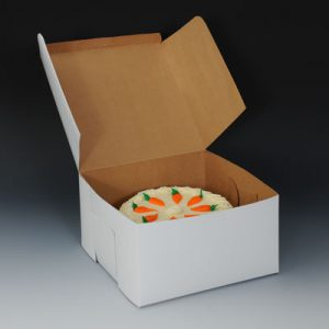"9"" x 9"" x 4"" Bakery Box (250 per bundle)"