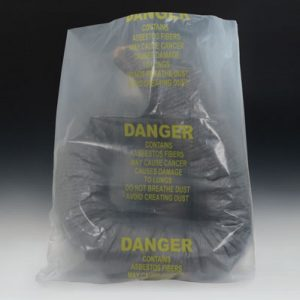 "38"" x 60"" Asbestos Hazard Bag - Clear (6 mil) (50 per carton)"