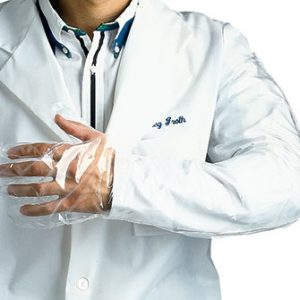 "35"" Polyethylene Shoulder-Length Gloves - Medium (1.25 mil) (100 per box)"