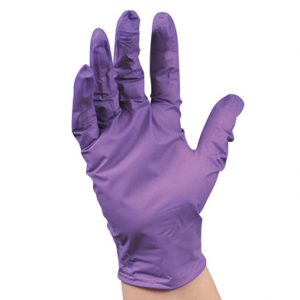 "9.5"" Kimberly Clark® Purple Nitrile® Powder-Free Exam Gloves - Large (4.72 mil) (100 per box)"