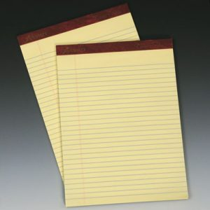 "8-1/2"" x 14"" Ampad® Ruled Paper Pads - Yellow (50 Sheets per Pad) (12 per package)"