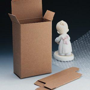 "4"" x 2-1/2"" x 6-1/4"" Kraft Reverse-Tuck Box (.036"") (250 per carton)"