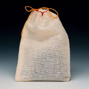 "6"" x 10"" Cloth Parts Bag with Single Drawstring (500 per carton)"