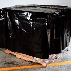 """74"""" x 62"""" x 90"""" Pallet Covers Perforated on a Roll - Black (4 mil) (21 per roll)"""