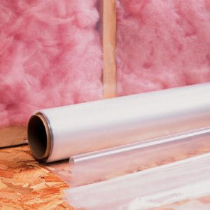 "50"" x 400' Low Density Poly Construction Film - Clear (2 mil)"