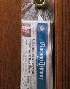 "6-1/2"" x 18"" High Density Flat Doorknob Bag (.45 Mil) (100 Bags per Pad; 20 Pads per Carton) (2000 per carton)"