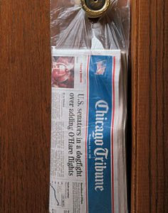 "5-1/2"" x 16"" High Density Flat Doorknob Bag (.45 Mil) (100 Bags per Pad; 20 Pads per Carton) (2000 per carton)"