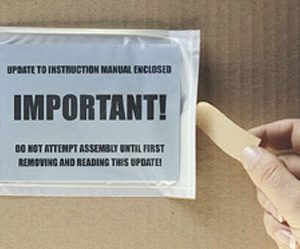 """10-3/4"""" x 6-3/4"""" Back-Loading Packing List Envelope with Perforation on Face (1000 per carton)"""