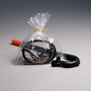 "2"" x 8"" Low Density Flat Poly Bag (1.5 mil) (1000 per carton)"