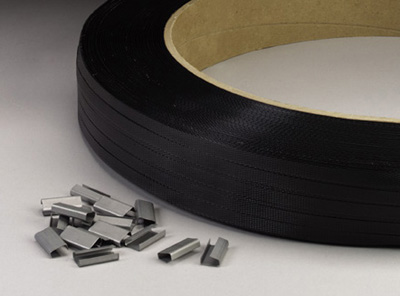 "1/2"" x 7200' Hand Grade Polypropylene Strapping with 16"" x 6"" Core - Black (600 lb. Tensile Strength/.031"" Thickness)"