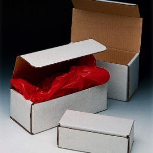 "10"" x 4-7/8"" x 3-3/4"" Corrugated Mailer - White  (100 per bundle)"
