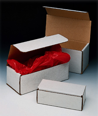 "12"" x 3-1/2"" x 3"" Corrugated Mailer - White  (100 per bundle)"
