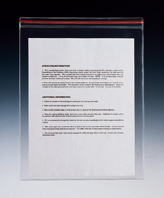 "11-1/2"" x 14"" Vinyl Zipper Envelope (7.5 Gauge) (100 per bag)"