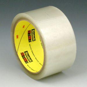 "2"" x 330' 3M™ Scotch® Hot Melt Adhesive Box Sealing Tape 371 - Clear (1.9 Mil) (36 per carton)"